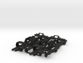 NEW 4-PACK! HO Slot Car Chassis - SL2-Mk4 in Black Natural Versatile Plastic