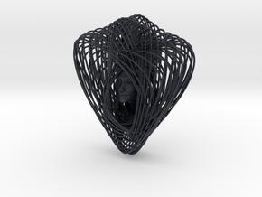Celtic Knot Curve Art + Nefertiti (001c) in Black Professional Plastic