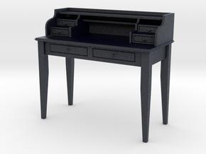 Miniature Sebastien Writing Desk in Black PA12: 1:12