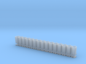 15x Muelltonne C240 in Smooth Fine Detail Plastic