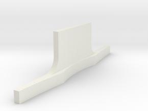 Rear bumper Revell Compatable in White Natural Versatile Plastic