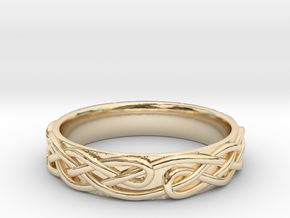 Ornament ring 1 in 14K Yellow Gold: 5.5 / 50.25