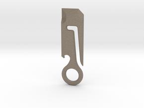 Belt Loop Dangler Multitool in Matte Bronzed-Silver Steel