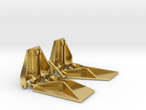 K Plane Trim Tabs in Polished Brass: 1:10