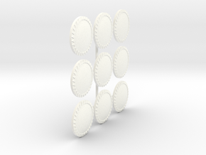 MACEDONIAN LIGHT SHIELD 2 X9  in White Processed Versatile Plastic