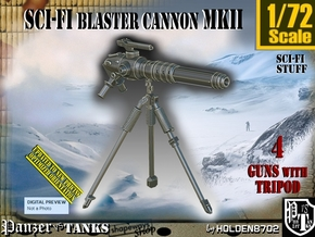 1/72 Sci-Fi Blaster Cannon MkII Set001 in Smooth Fine Detail Plastic