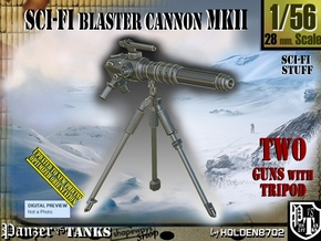 1/56 Sci-Fi Blaster Cannon MkII Set001 in Smooth Fine Detail Plastic