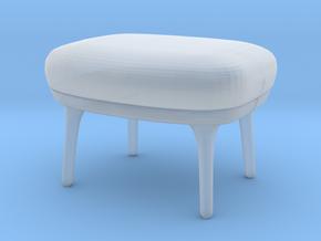 Miniature RO Footstool - Fritz Hansen in Smooth Fine Detail Plastic: 1:12