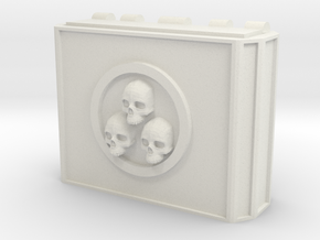 MK1 Weapon pod Main housing (triple skull) in White Natural Versatile Plastic