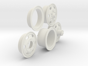 1/6 900x20 M35 Wheels Sample Set06 in White Natural Versatile Plastic