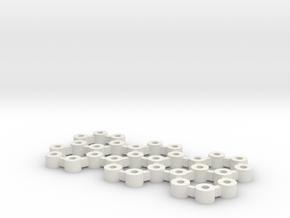 FD3, Titan Lite: väliholkkisetti in White Natural Versatile Plastic