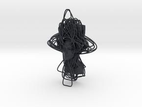 Enneper Curve Art + Nefertiti (003a) in Black Professional Plastic