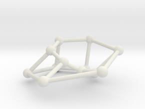 Möbius ladder M_12 in White Natural Versatile Plastic