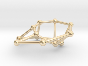 Möbius ladder M_14 in 14k Gold Plated Brass