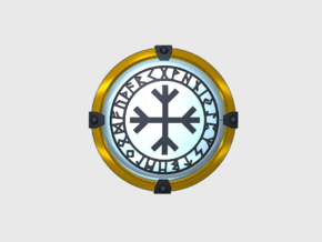 Brand's Rune Circle Power Shield  in Smooth Fine Detail Plastic: Small