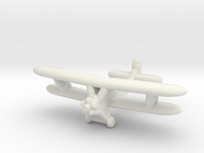 Po-2 Russian Biplane in White Natural Versatile Plastic