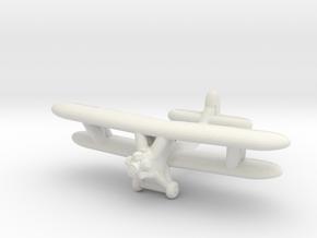 Po-2 Russian Biplane in White Natural Versatile Plastic