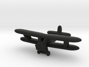 Po-2 Russian Biplane in Black Premium Versatile Plastic