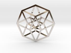 "4D Hypercube (Tesseract) 2.5"" in Platinum"