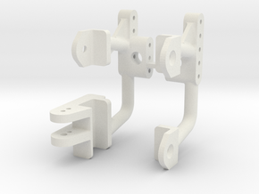 JaBird RC TRX4 Competition Front Shock Hoops in White Natural Versatile Plastic