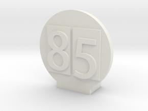 CUCV Emblem for RC4Wd Blazer Body in White Natural Versatile Plastic