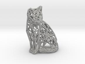 Sitting cat in Aluminum