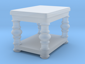 fancy end table v2 in Smooth Fine Detail Plastic