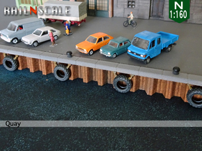 SET 4 Bollards and 6 dock bumpers (N 1:160) in Smoothest Fine Detail Plastic