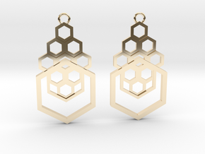 Geometrical earrings no.4 in 14K Yellow Gold: Small