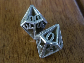 D10/100 Set - Plunged Sides in Polished Bronzed Silver Steel
