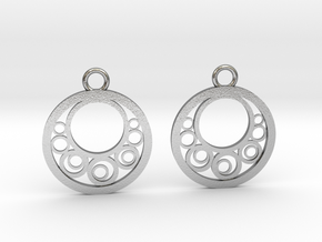 Geometrical earrings no.6 in Natural Silver: Small
