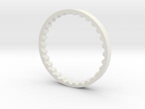 TM VSR-10 cylinder guide rings in White Natural Versatile Plastic