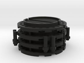 Sewer Pipe Cap Set in Black Natural Versatile Plastic