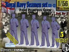 1/56 RN Seamen Rest Set101-13 in Smooth Fine Detail Plastic