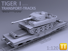 TIGER I - (Transport version) - (1:120) TT in Smooth Fine Detail Plastic