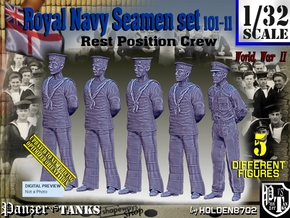 1/32 RN Seamen Rest Set101-11 in Smooth Fine Detail Plastic