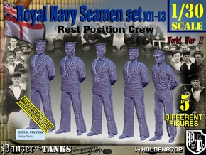 1/30 RN Seamen Rest Set101-13 in White Natural Versatile Plastic