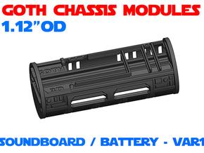 GCM112 - Soundboard Lightsaber Chassis Var1 in White Natural Versatile Plastic