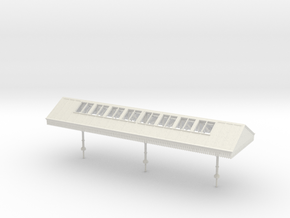 Narrow Canopy Assembly - OO Scale in White Natural Versatile Plastic
