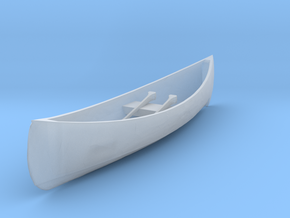 HO Scale Canoe in Smooth Fine Detail Plastic