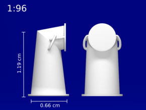 1:96 HMS Victory Chimney Cowl in Smoothest Fine Detail Plastic