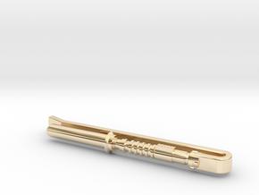 Light Saber 1 Tie Clip in 14k Gold Plated Brass