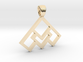 Art déco squares [pendant] in 14k Gold Plated Brass