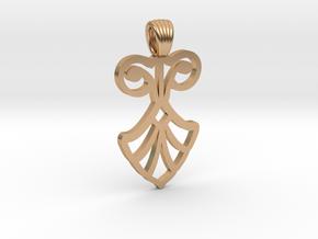 Art Deco Flower [pendant] in Polished Bronze