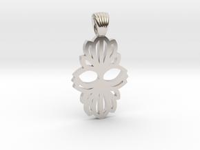 Art Deco double flower [pendant] in Platinum