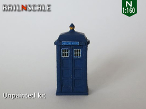 TARDIS / Police box Mk2 (N 1:160) in Frosted Ultra Detail