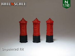SET 3x Penfold Pillar Box (N 1:160) in Frosted Ultra Detail