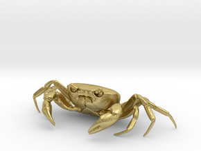 CRAB Sculpture, 8.4cm length in Natural Brass