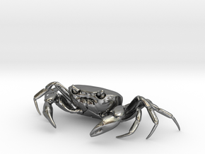 CRAB Sculpture, 8.4cm length in Polished Silver