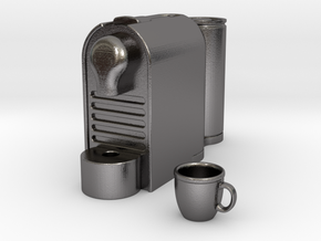 Coffee Machine 1:12 scale in Polished Nickel Steel
